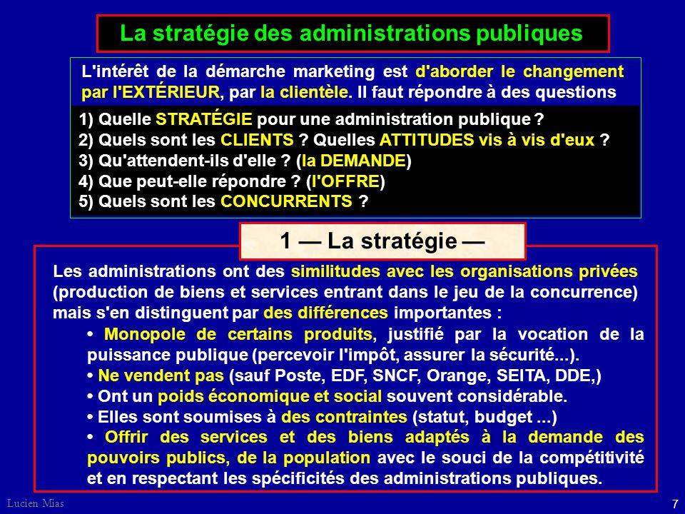1 — La stratégie — La stratégie des administrations publiques