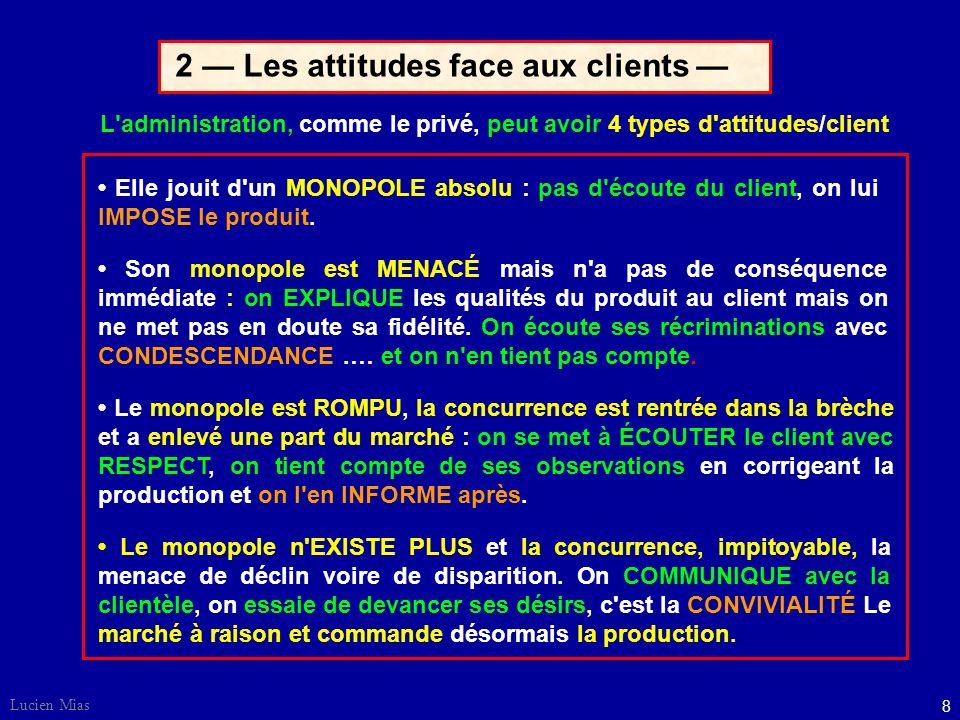 2 — Les attitudes face aux clients —