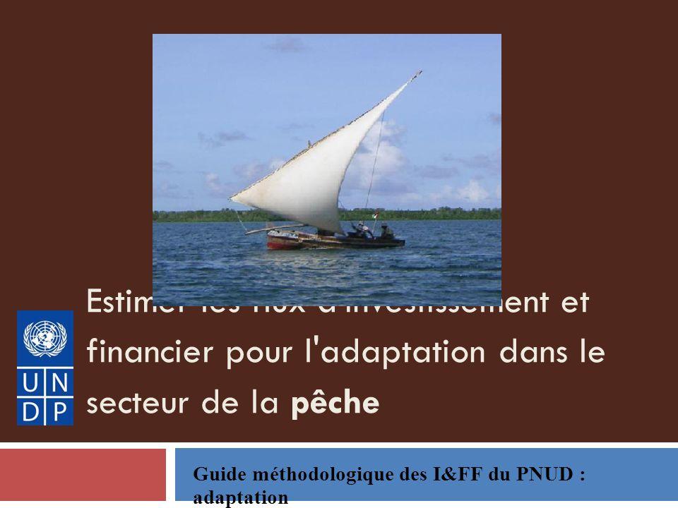 Estimer les flux d investissement et financier pour l adaptation dans le secteur de la pêche