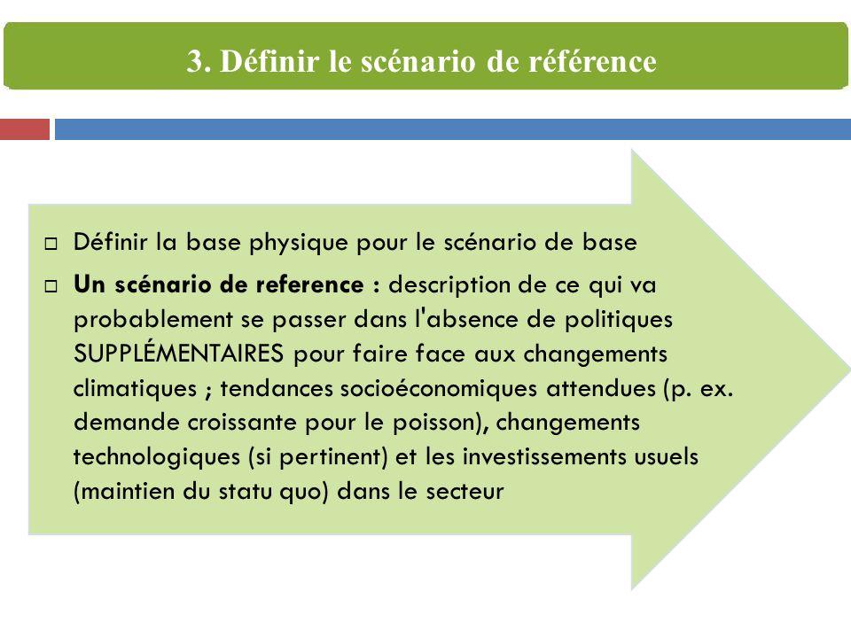 3. Définir le scénario de référence