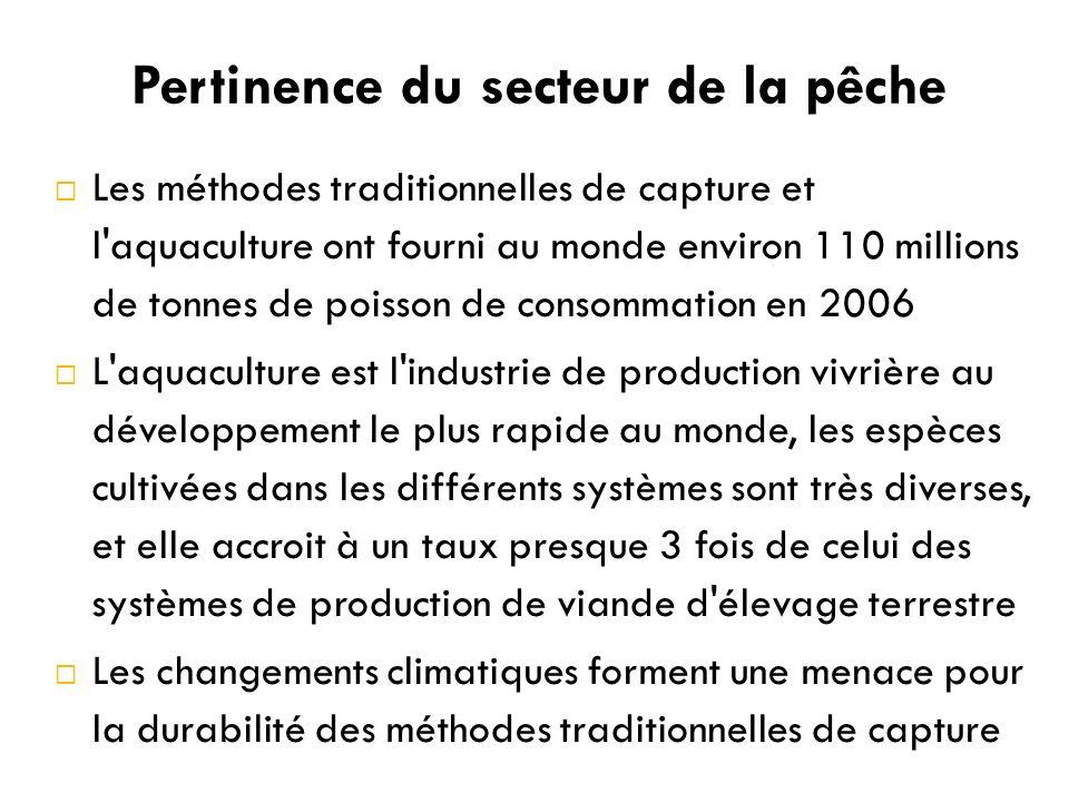 Pertinence du secteur de la pêche