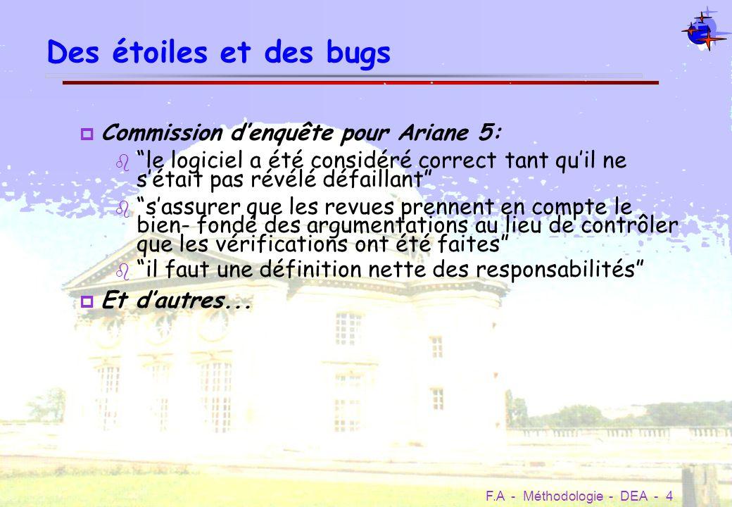 Des étoiles et des bugs Commission d'enquête pour Ariane 5: