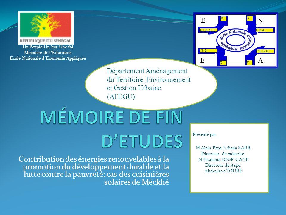 MÉMOIRE DE FIN D'ETUDES
