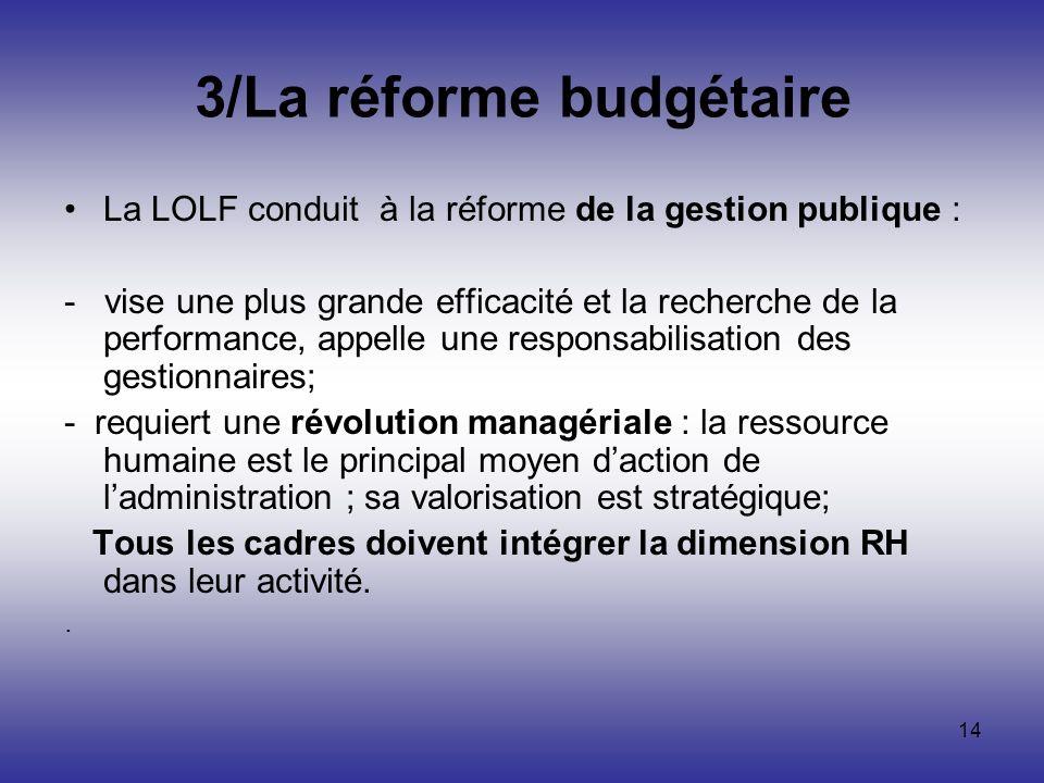 3/La réforme budgétaire