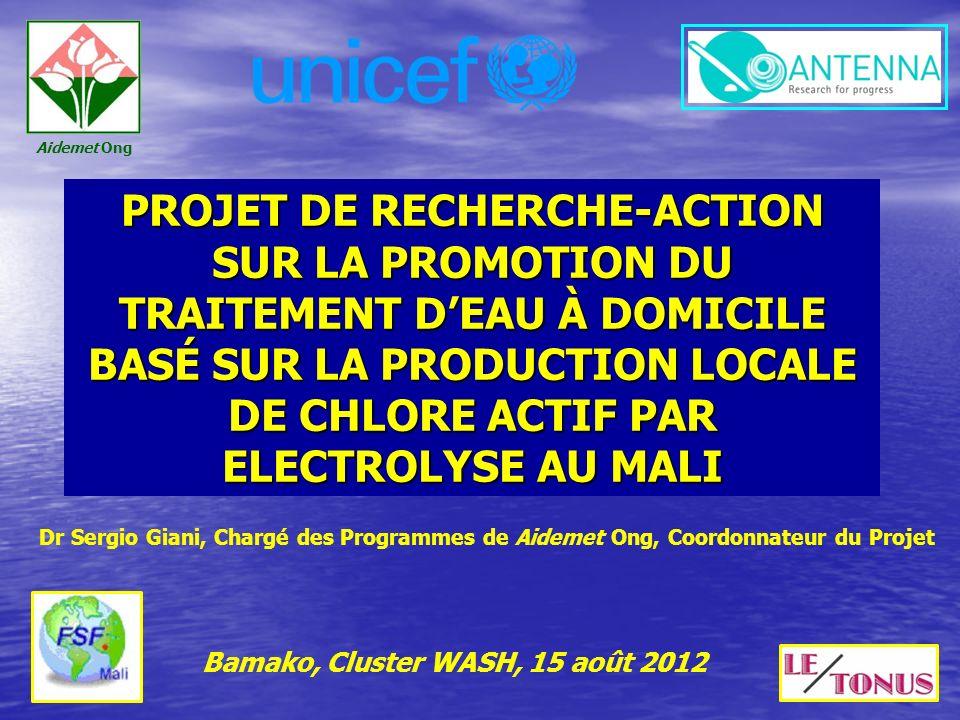 Bamako, Cluster WASH, 15 août 2012