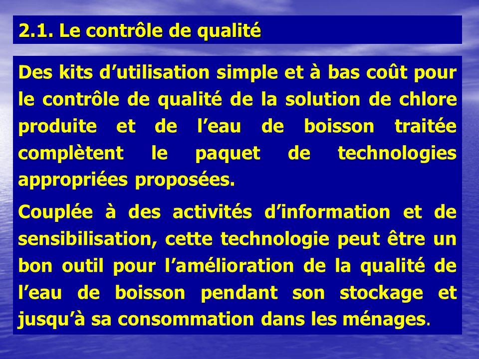2.1. Le contrôle de qualité