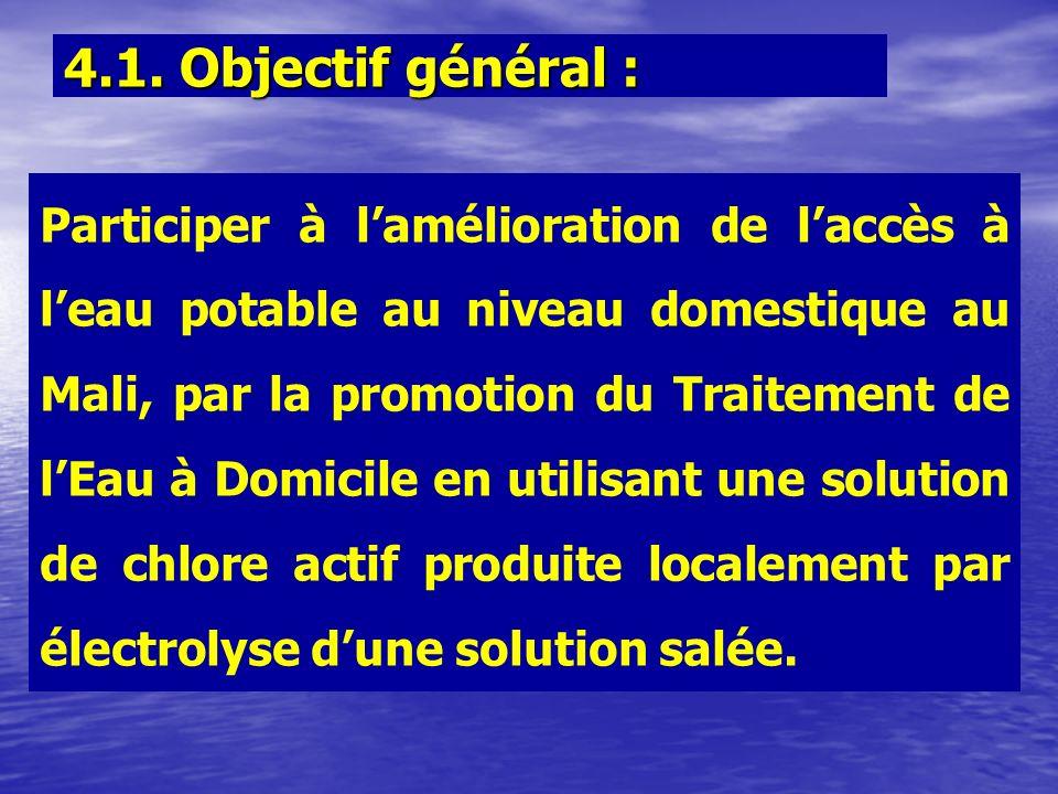 4.1. Objectif général :