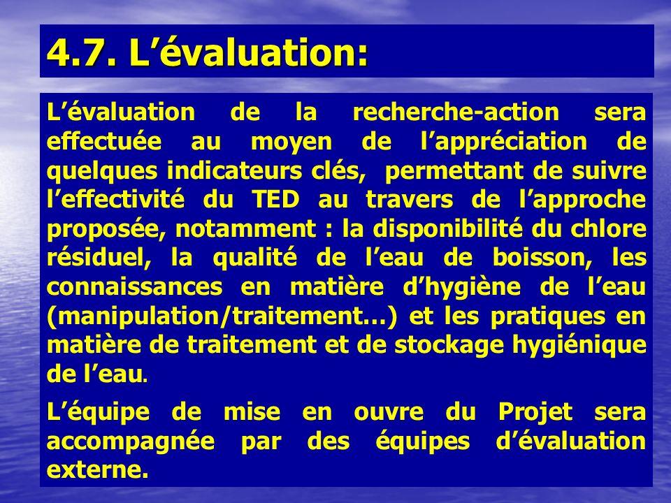 4.7. L'évaluation: