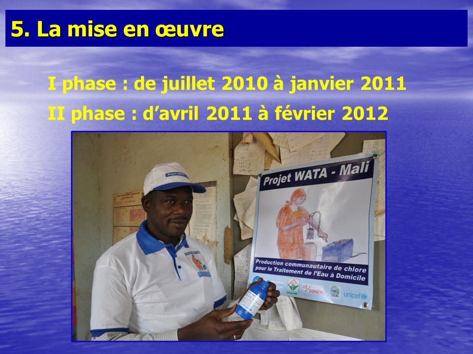5. La mise en œuvre I phase : de juillet 2010 à janvier 2011