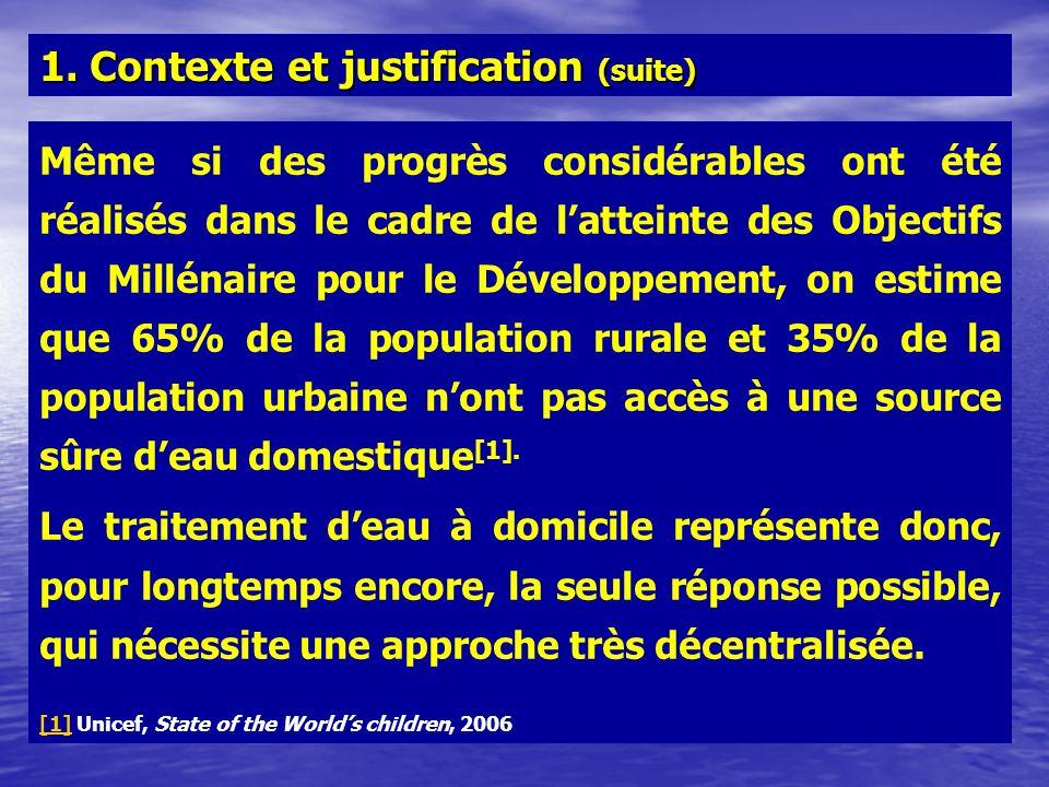 1. Contexte et justification (suite)