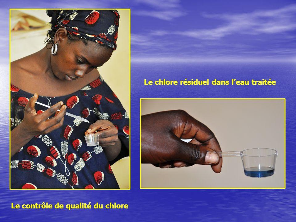Le chlore résiduel dans l'eau traitée
