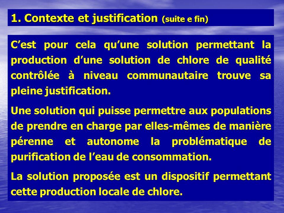 1. Contexte et justification (suite e fin)