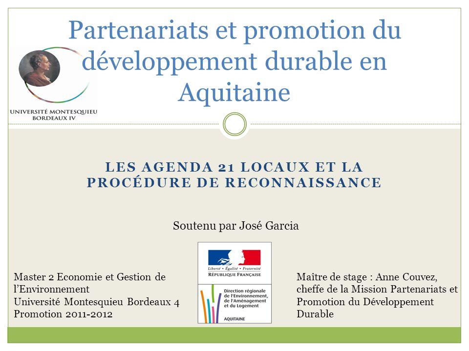 Partenariats et promotion du développement durable en Aquitaine