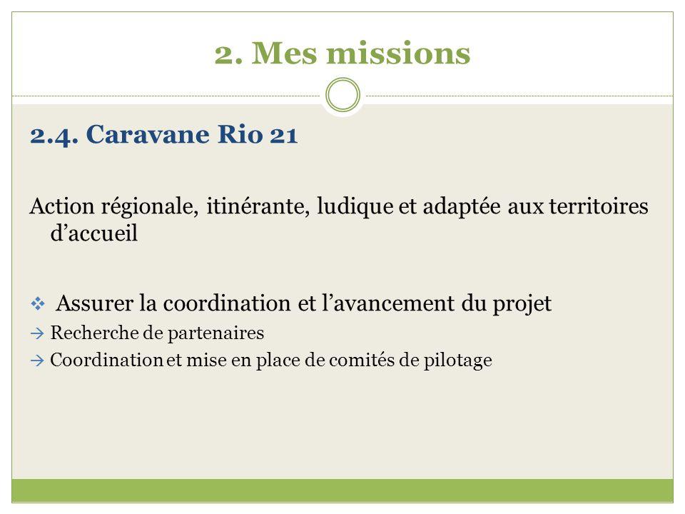 2. Mes missions 2.4. Caravane Rio 21