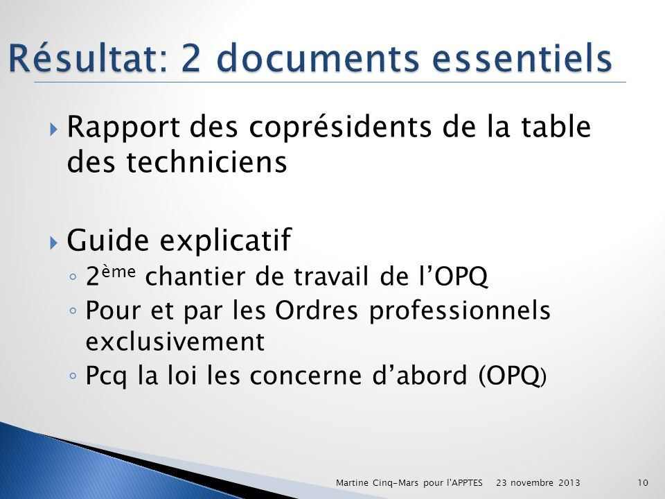 Résultat: 2 documents essentiels