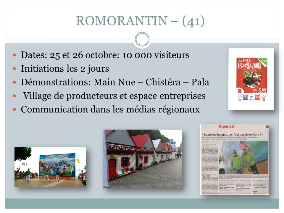 ROMORANTIN – (41) Dates: 25 et 26 octobre: 10 000 visiteurs
