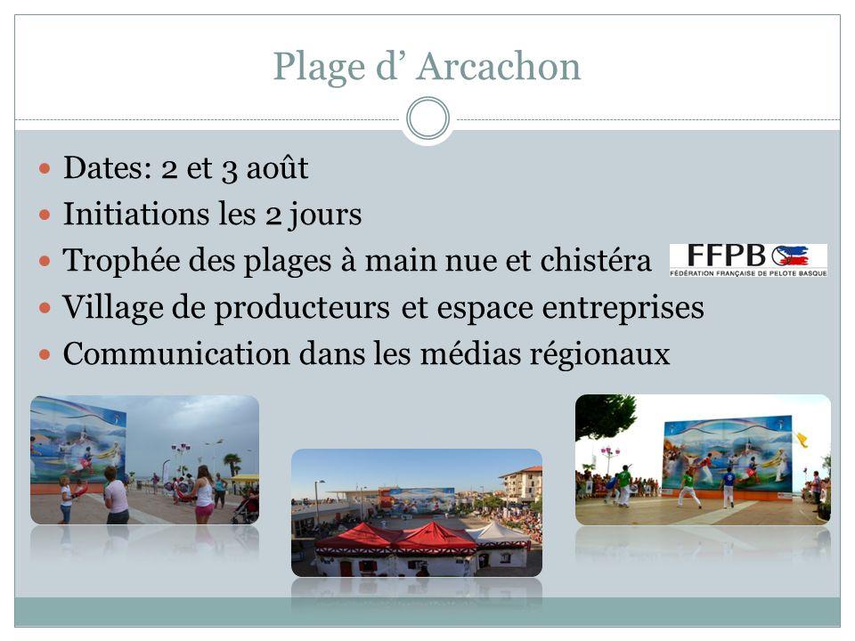Plage d' Arcachon Village de producteurs et espace entreprises