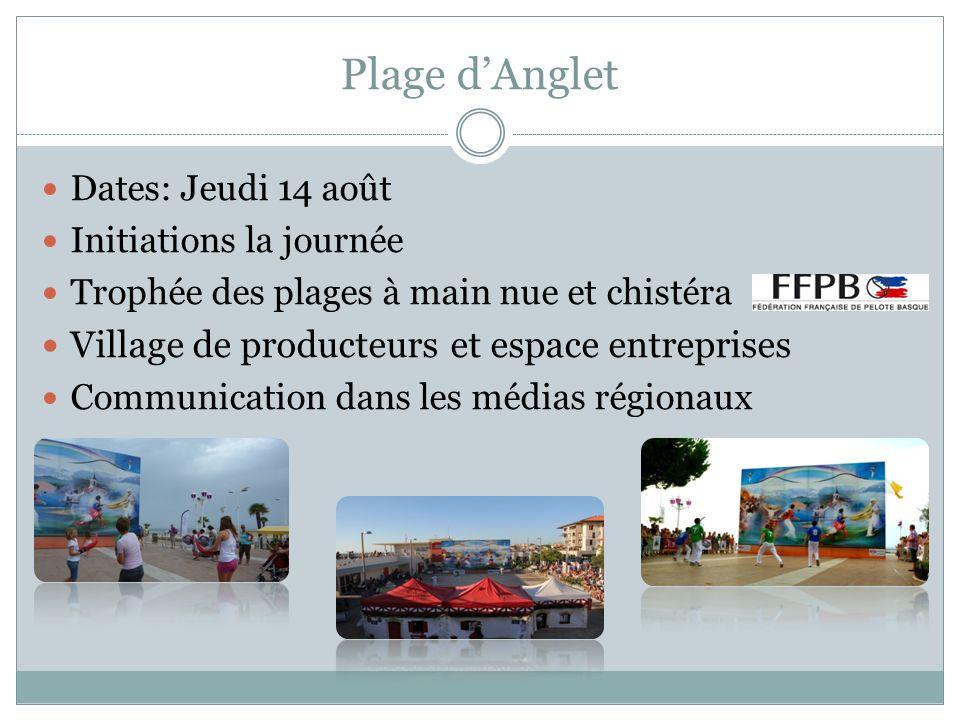 Plage d'Anglet Village de producteurs et espace entreprises