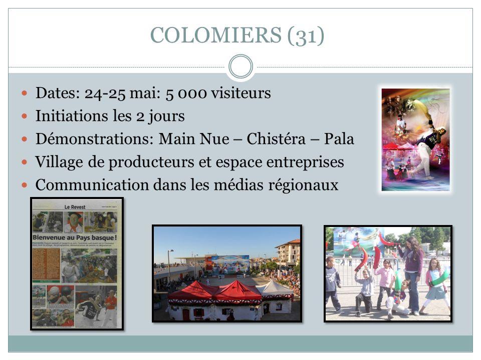 COLOMIERS (31) Dates: 24-25 mai: 5 000 visiteurs