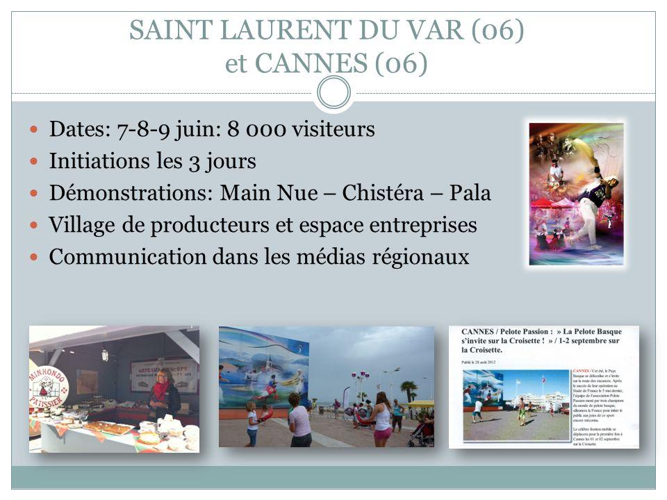 SAINT LAURENT DU VAR (06) et CANNES (06)