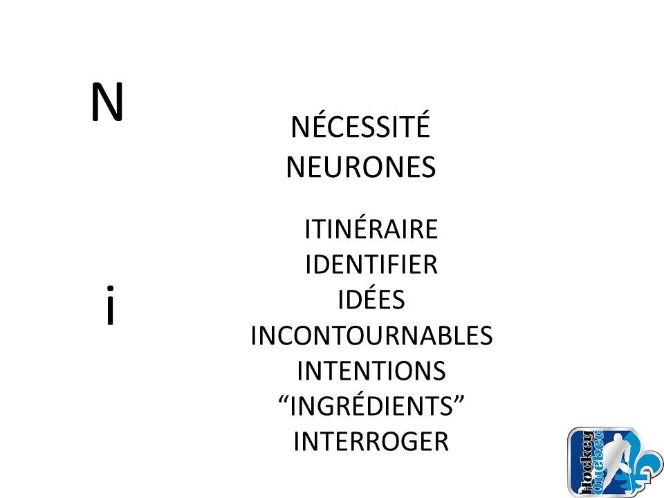 N i NÉCESSITÉ NEURONES ITINÉRAIRE IDENTIFIER IDÉES INCONTOURNABLES