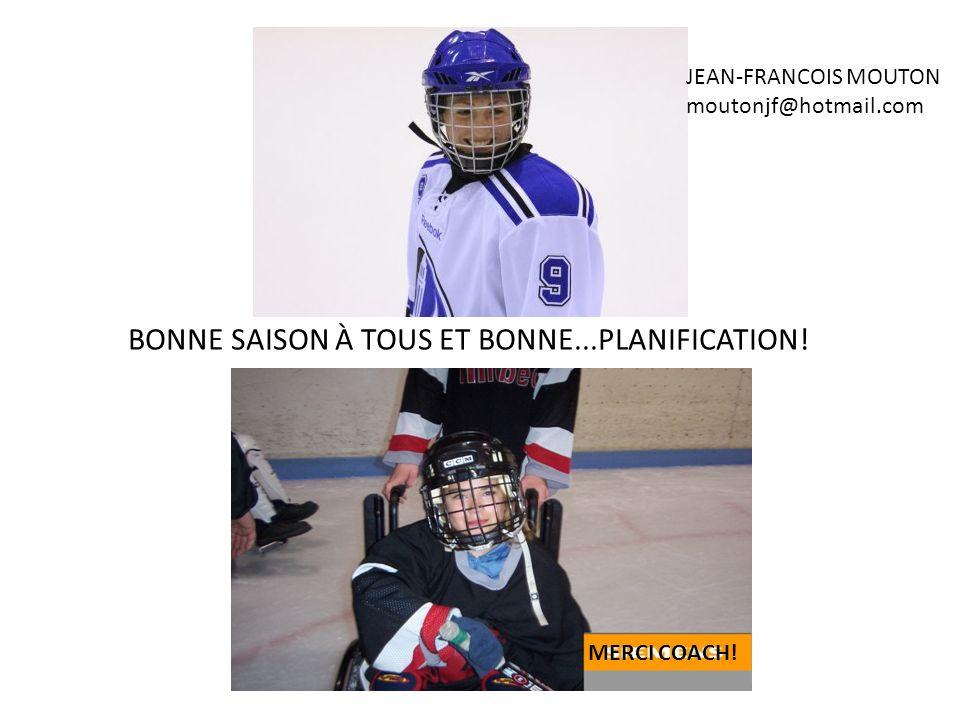 BONNE SAISON À TOUS ET BONNE...PLANIFICATION!