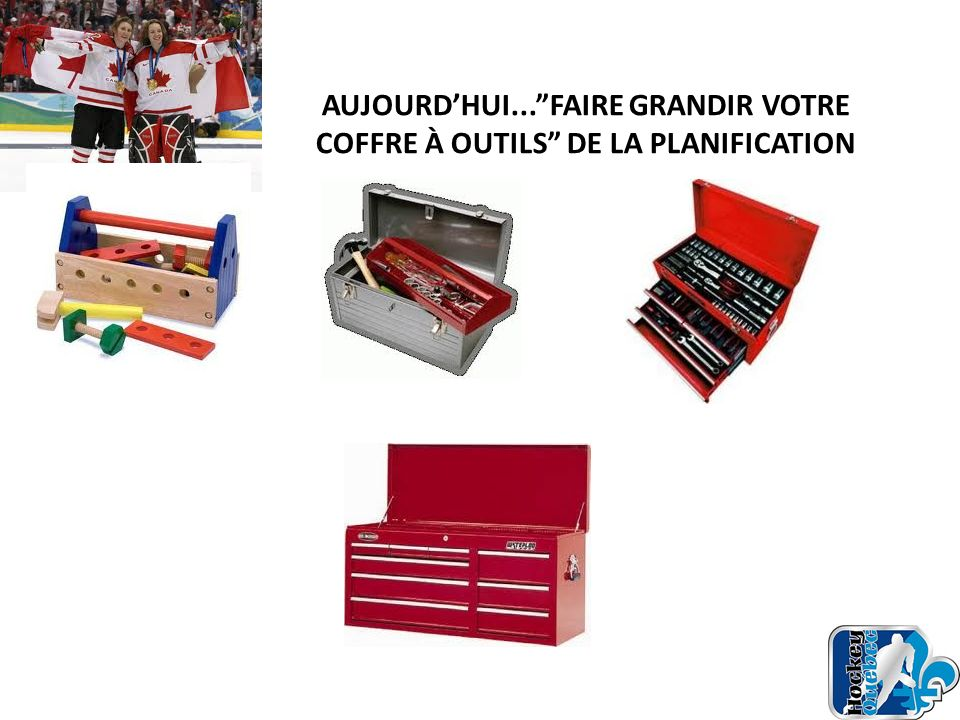 AUJOURD'HUI... FAIRE GRANDIR VOTRE COFFRE À OUTILS DE LA PLANIFICATION