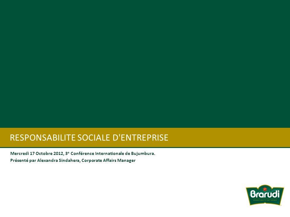 RESPONSABILITE SOCIALE D ENTREPRISE
