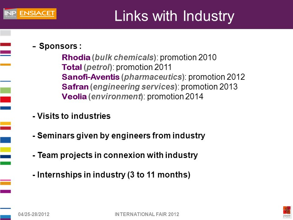 Links with Industry - Sponsors :