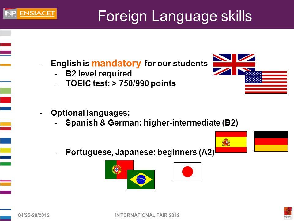 Foreign Language skills