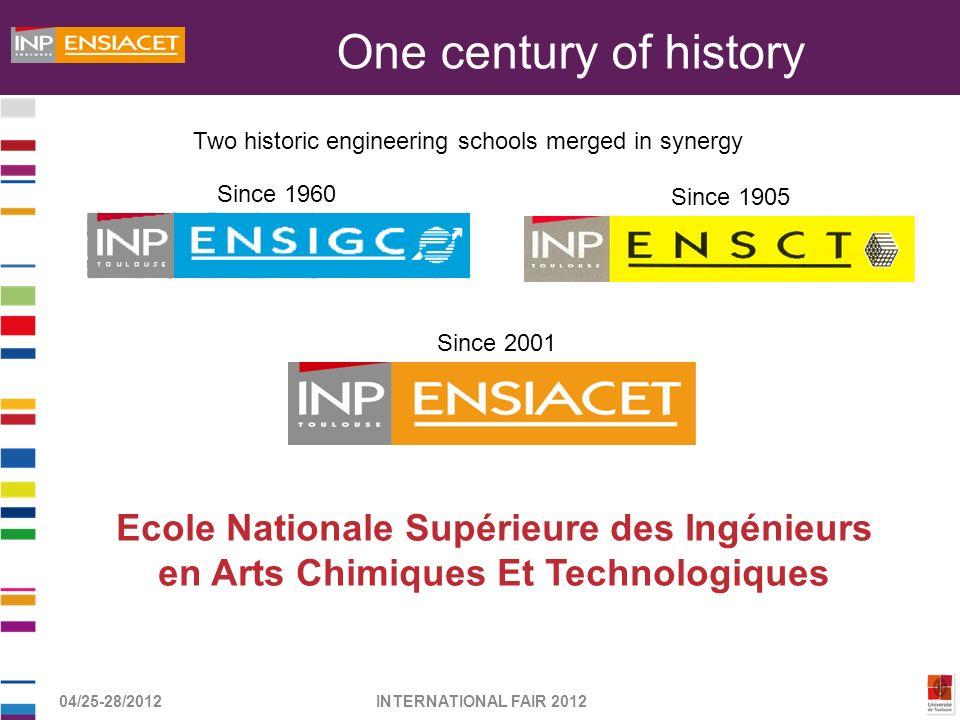 One century of history Ecole Nationale Supérieure des Ingénieurs