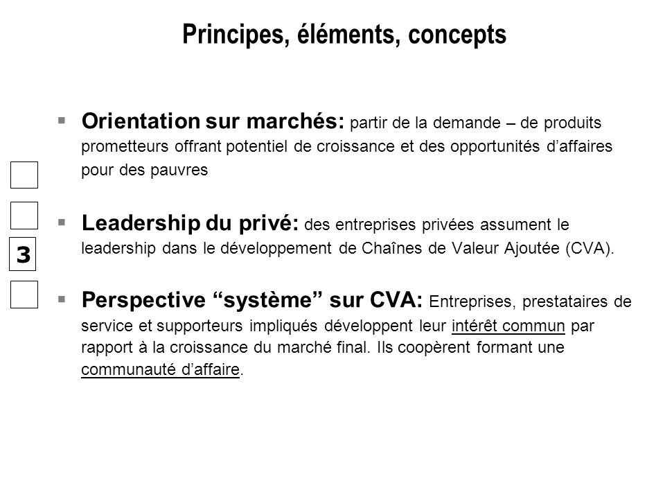 Principes, éléments, concepts