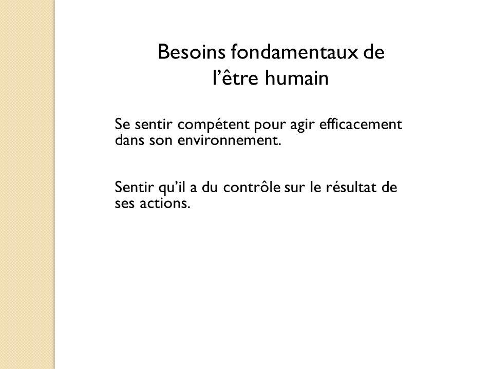Besoins fondamentaux de l'être humain