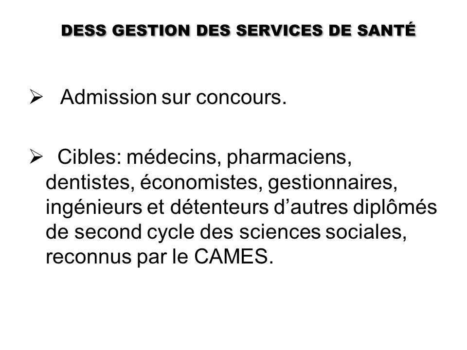 DESS GESTION DES SERVICES DE SANTÉ