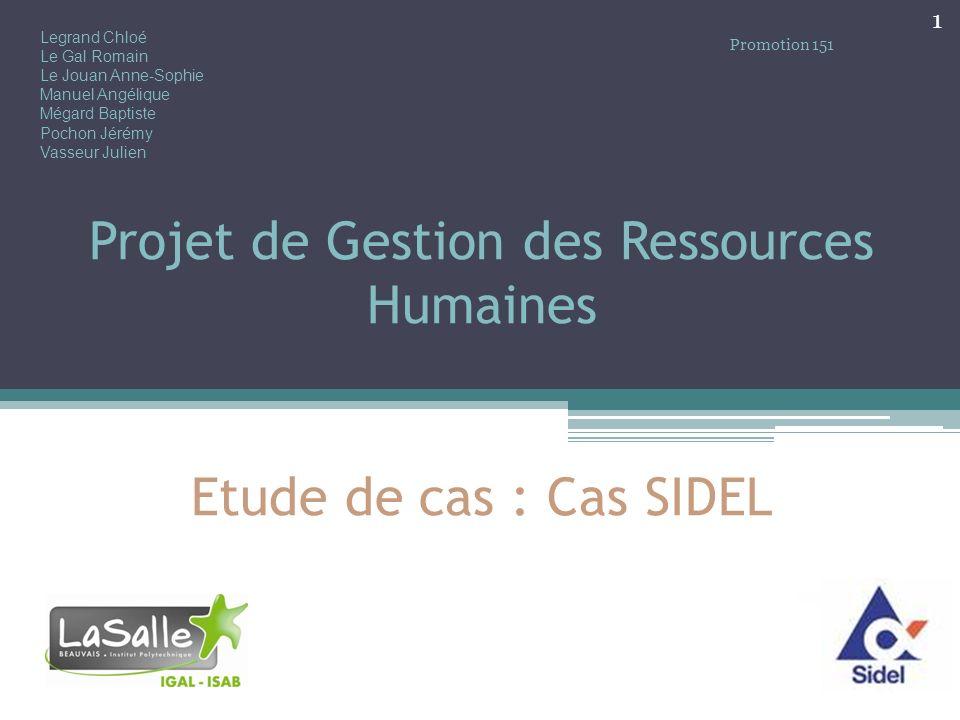 Projet de Gestion des Ressources Humaines Etude de cas : Cas SIDEL
