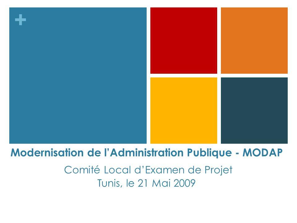 Modernisation de l'Administration Publique - MODAP Comité Local d'Examen de Projet Tunis, le 21 Mai 2009