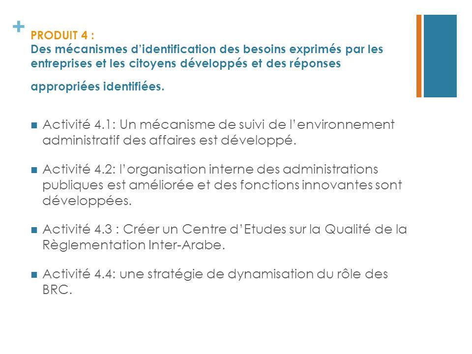 Activité 4.4: une stratégie de dynamisation du rôle des BRC.