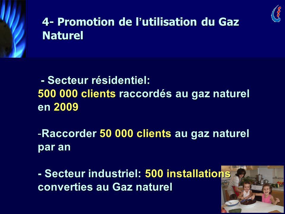 4- Promotion de l'utilisation du Gaz Naturel