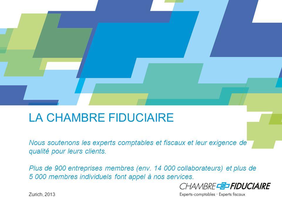 La Chambre fiduciaire Nous soutenons les experts comptables et fiscaux et leur exigence de qualité pour leurs clients. Plus de 900 entreprises membres (env. 14 000 collaborateurs) et plus de 5 000 membres individuels font appel à nos services.