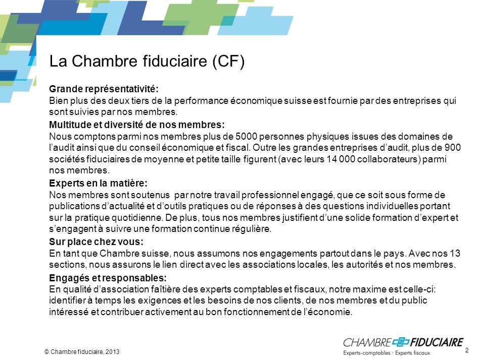 La Chambre fiduciaire (CF)