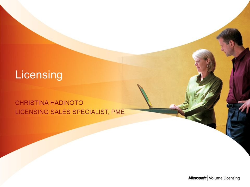 CHRISTiNA HADINOTO Licensing Sales Specialist, PME