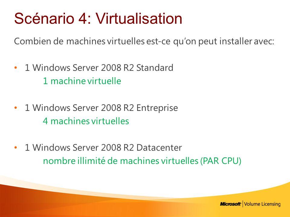 Scénario 4: Virtualisation