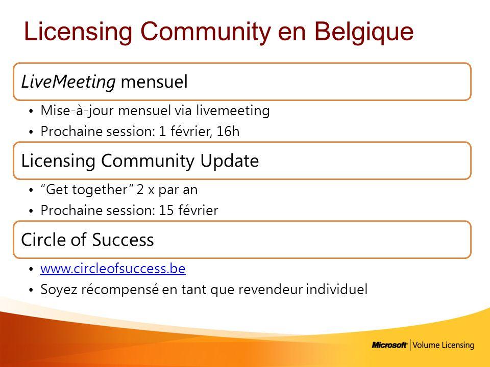 Licensing Community en Belgique
