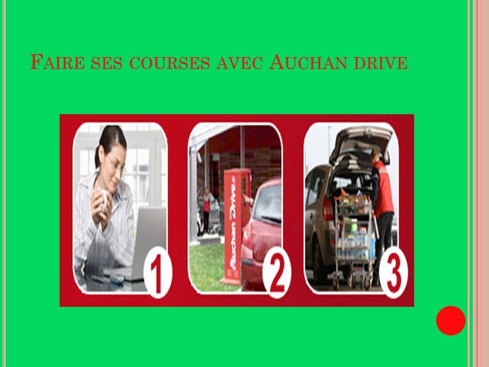 Faire ses courses avec Auchan drive
