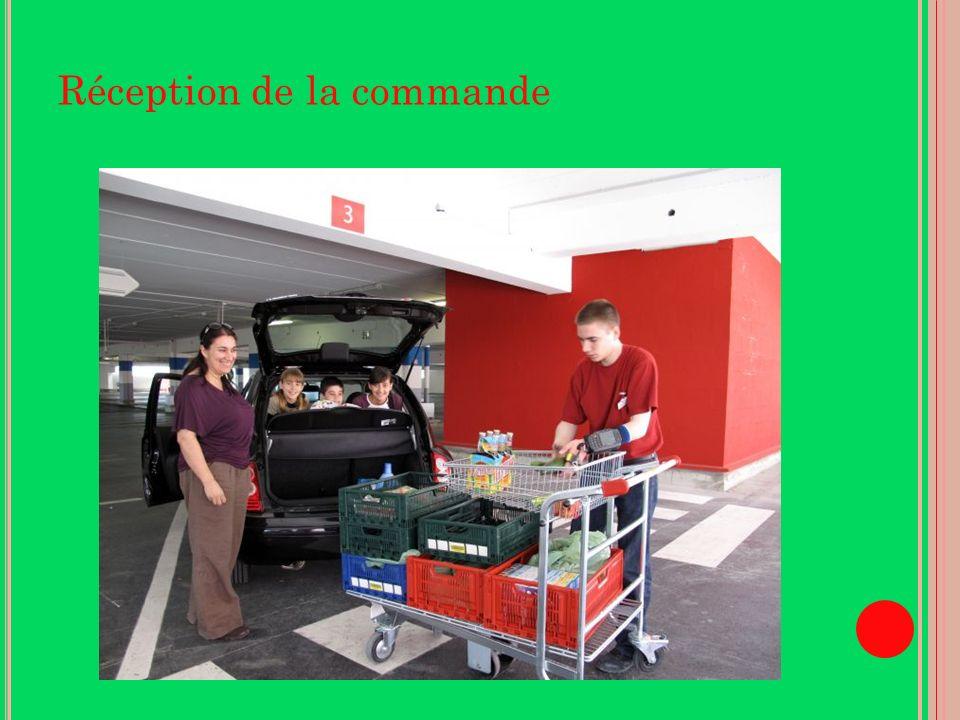 Réception de la commande