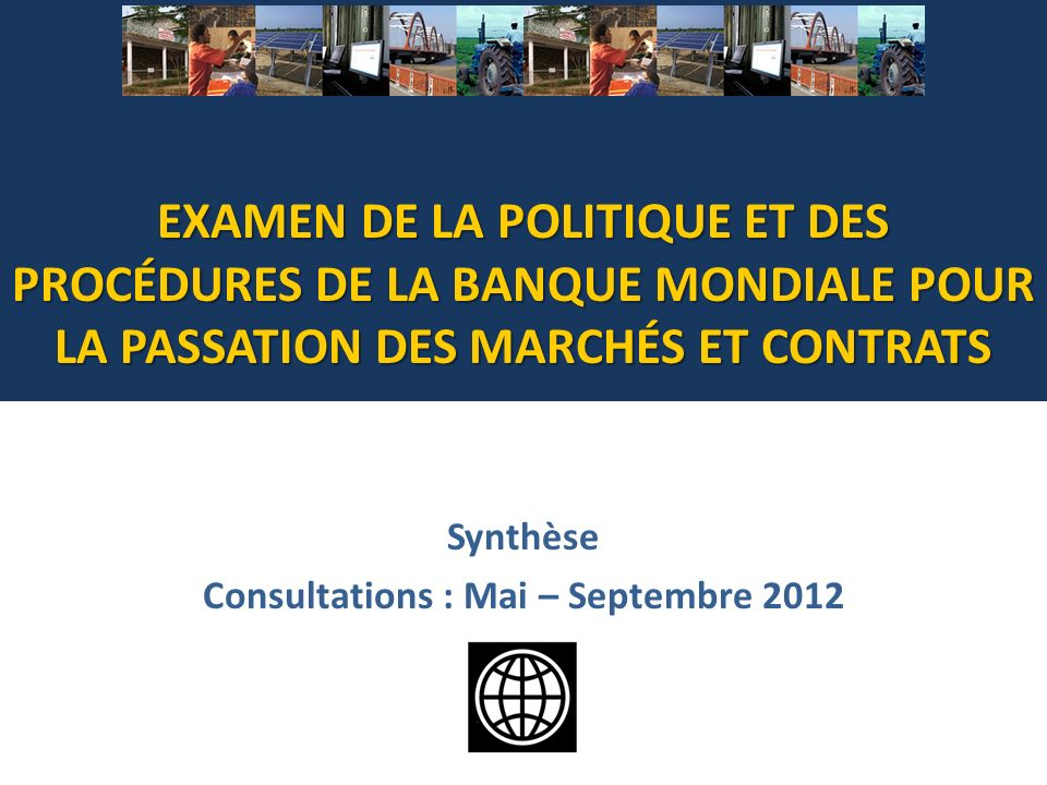 Synthèse Consultations : Mai – Septembre 2012