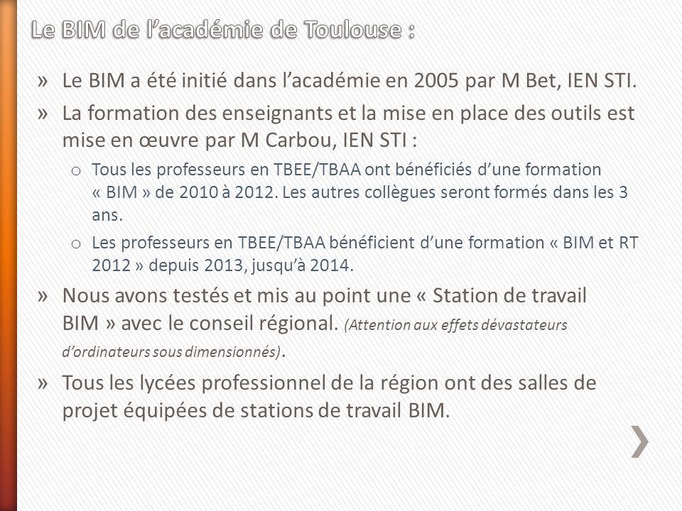 Le BIM de l'académie de Toulouse :