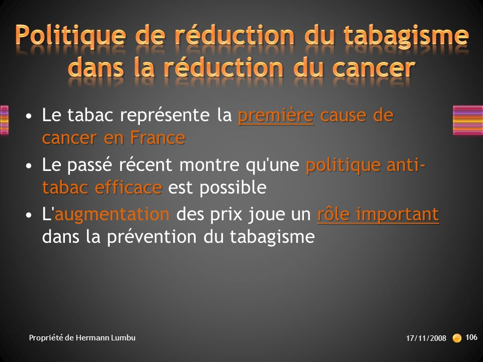 Politique de réduction du tabagisme dans la réduction du cancer