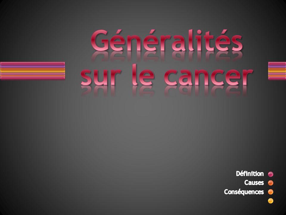 Généralités sur le cancer