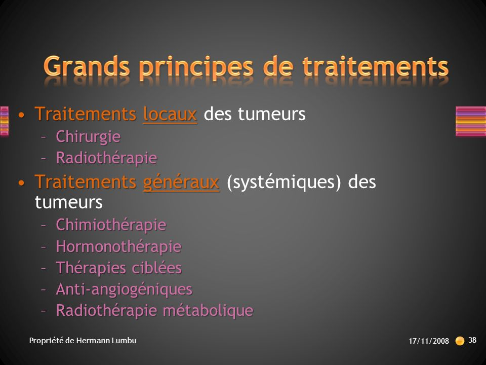 Grands principes de traitements